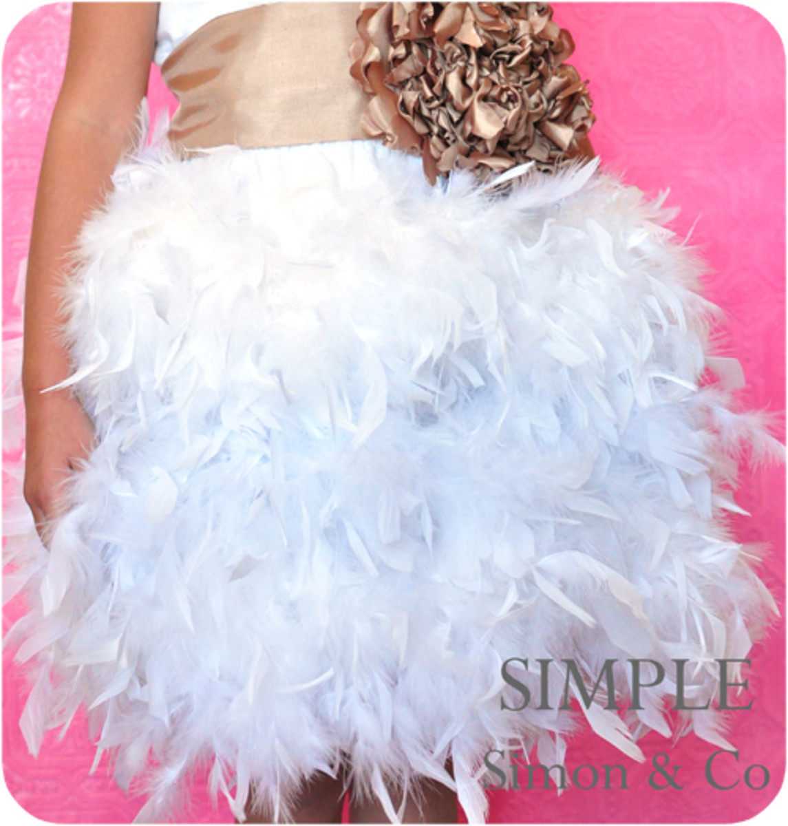 Feather Tutu by Simple Simon and Co