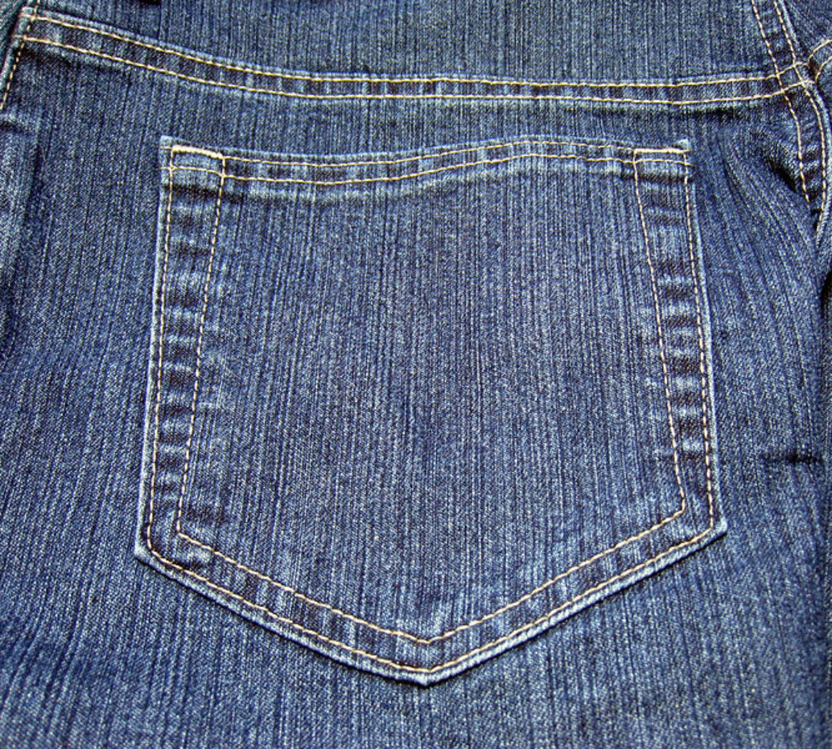 Jeans with rear patch pockets