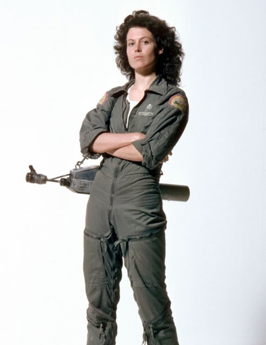 "Sigourney Weaver as Lt. Ripley (""Aliens"")"