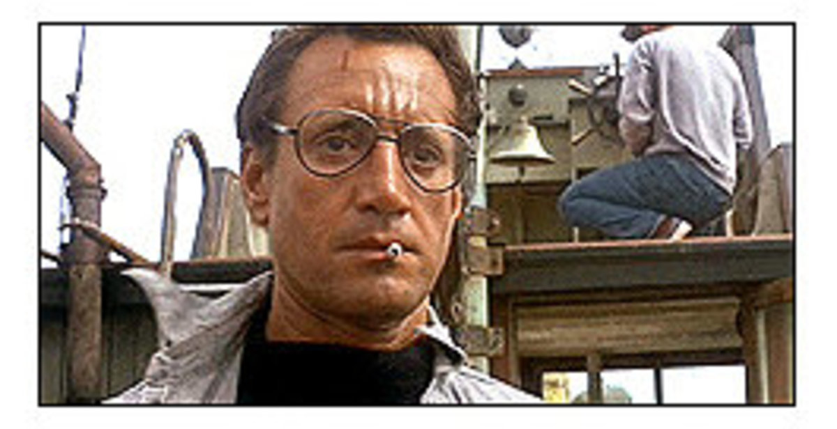 "Roy Scheider in ""Jaws"" as Chief Martin Brody"