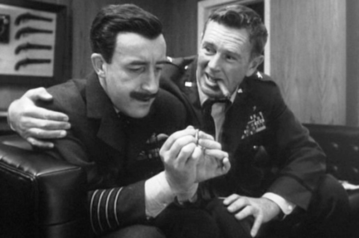 "Peter Sellers as Mandrake and Sterling Hayden as Base Commander Ripper from ""Dr. Strangelove"""