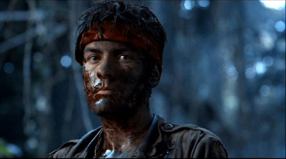 "Charlie Sheen in ""Platoon."""