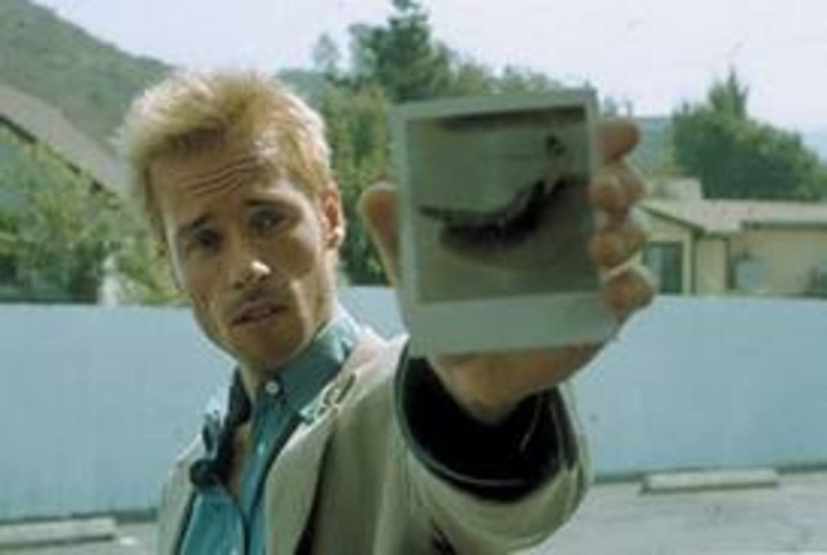 "Guy Pierce in ""Memento."""