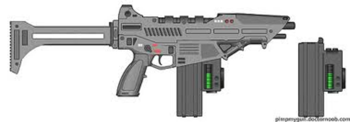 Updated version of the SF13 SMG. Still uses the F182 lower receiver, but blended.... All rights to hongooi.
