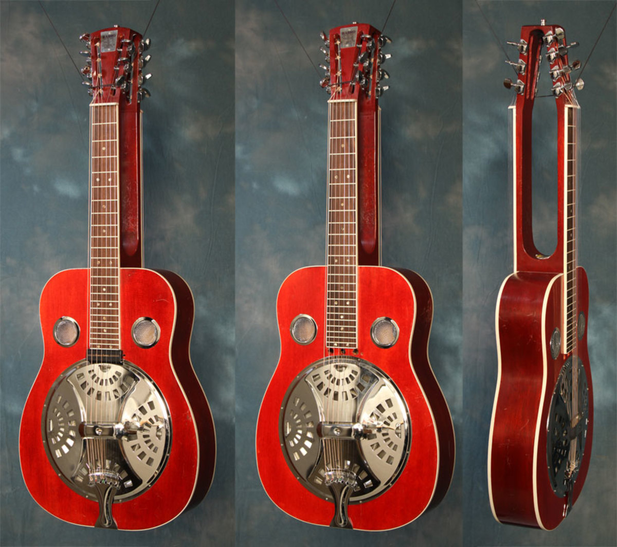 """RAYBRO"" RESONATOR GUITAR (DOBRO STYLE) HAND MADE BY MY UNCLE RAY WATKINS"