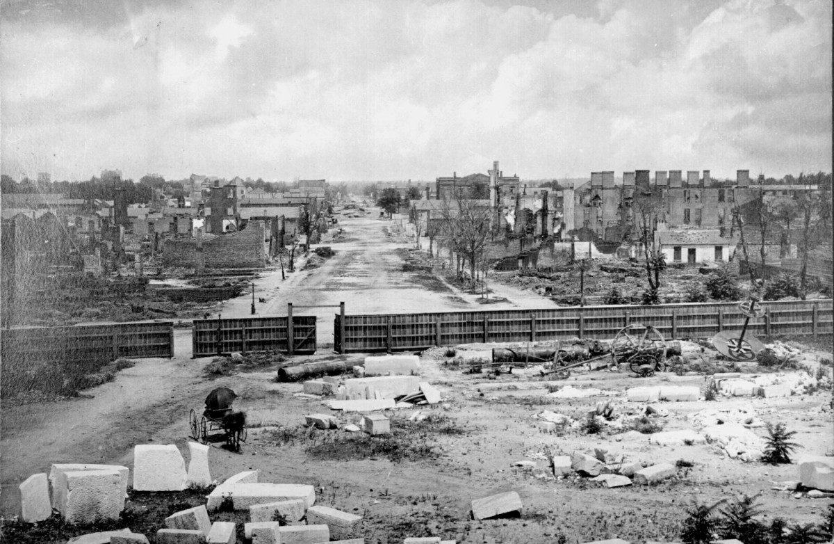 COLUMBIA SOUTH CAROLINA IN RUINS AFTER SHERMAN'S MARCH CAME THROUGH IN 1864
