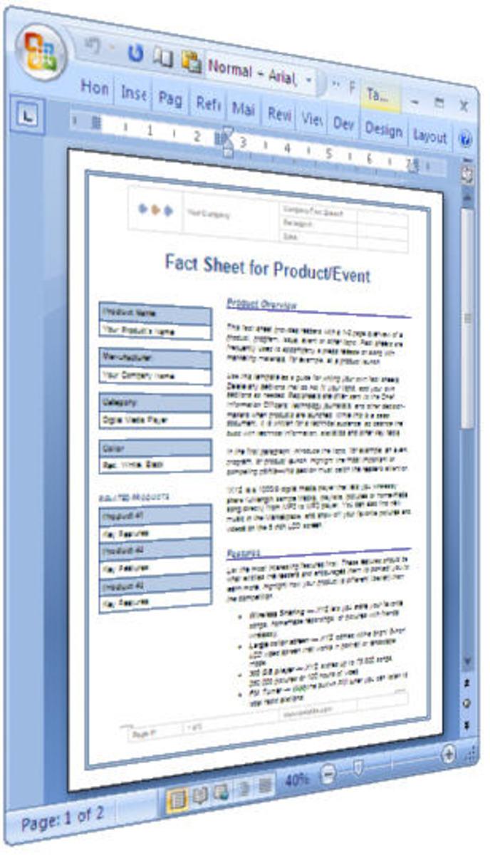 Technical Writing Fact Sheet