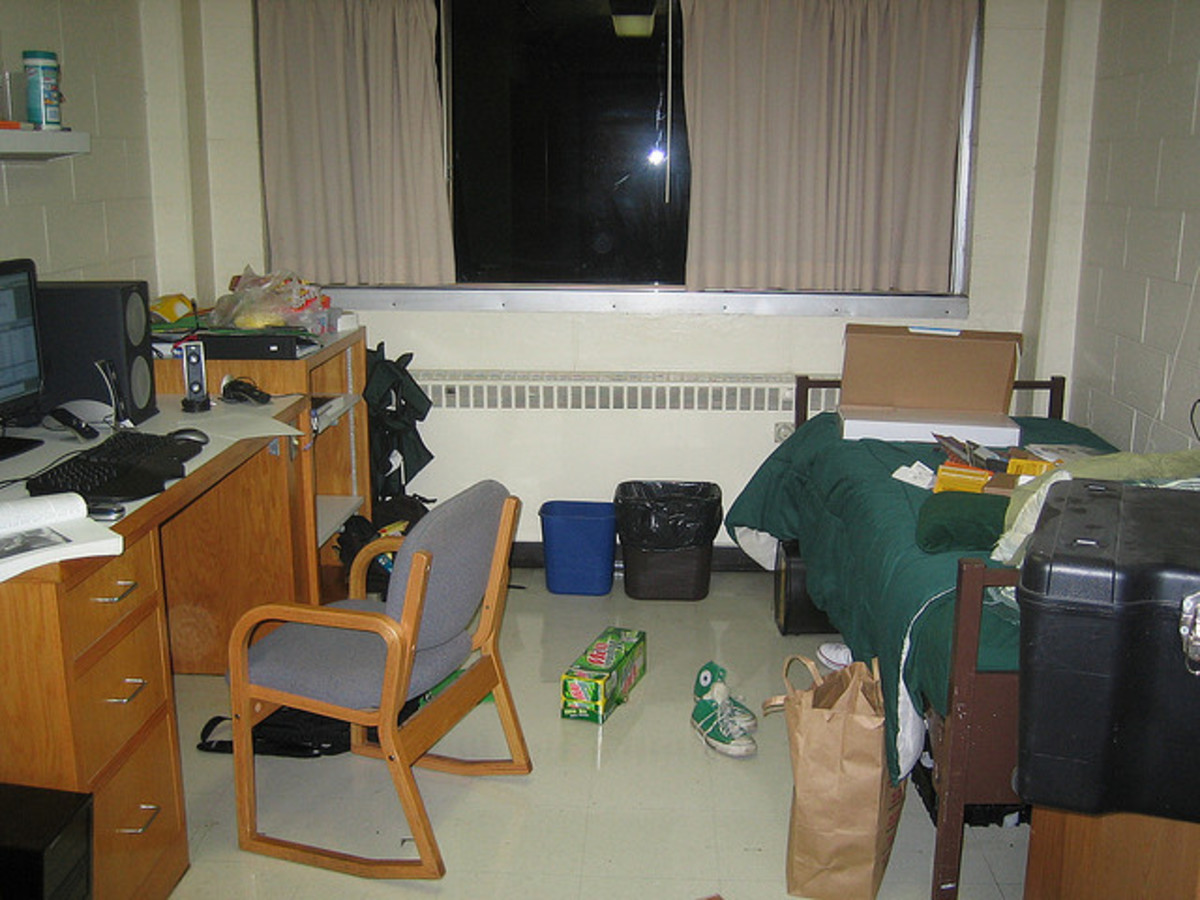 A messy room can grate on some people's nerves while others consider it quite normal.