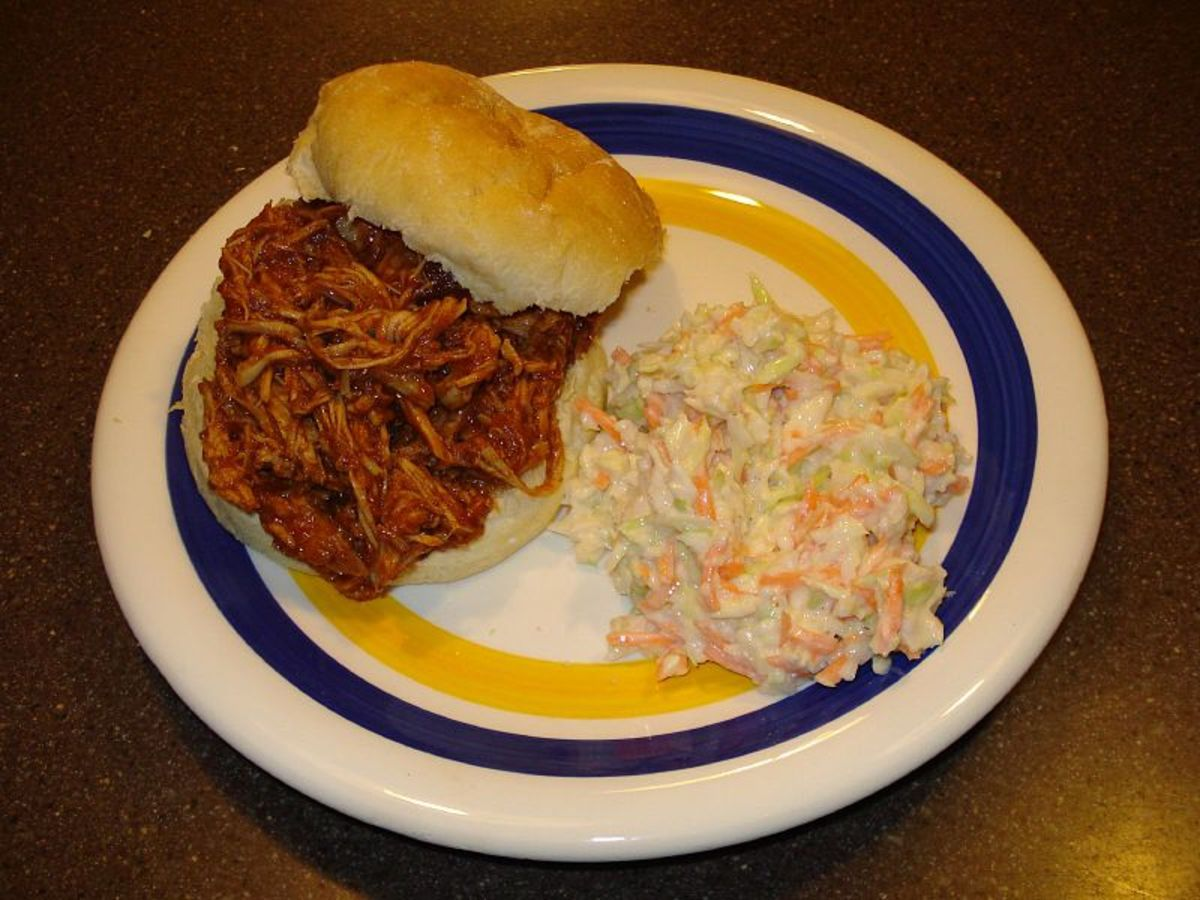 Barbecue Pulled Pork Sandwich With Slaw.
