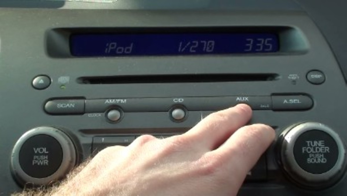 After pressing the AUX button, you should see a screen very similar to this one.