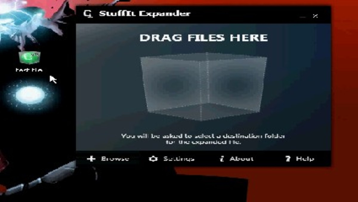 The StuffIt Expander program window without a file being held over it.