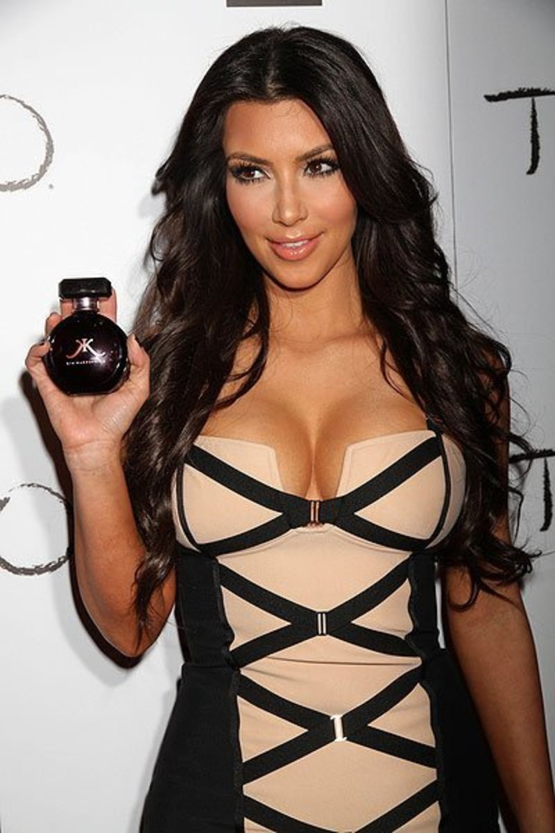 Kimmie promoting one of her fragrances