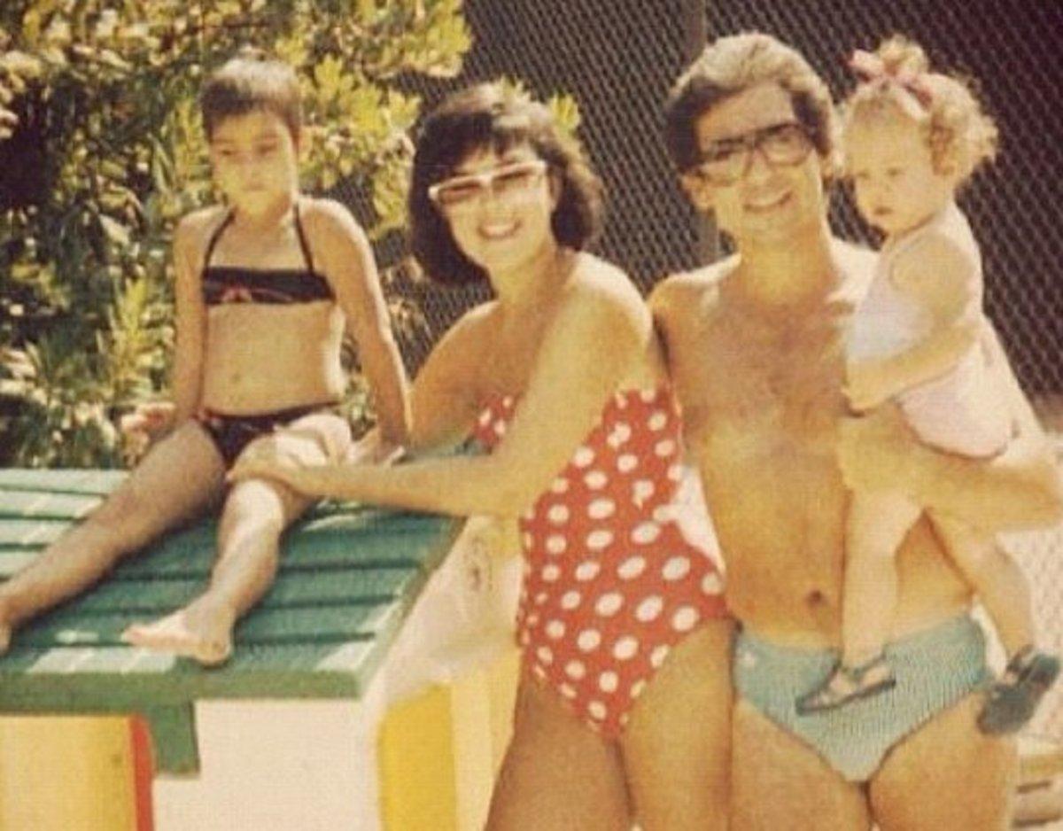 Kim Kardashian when she was a child