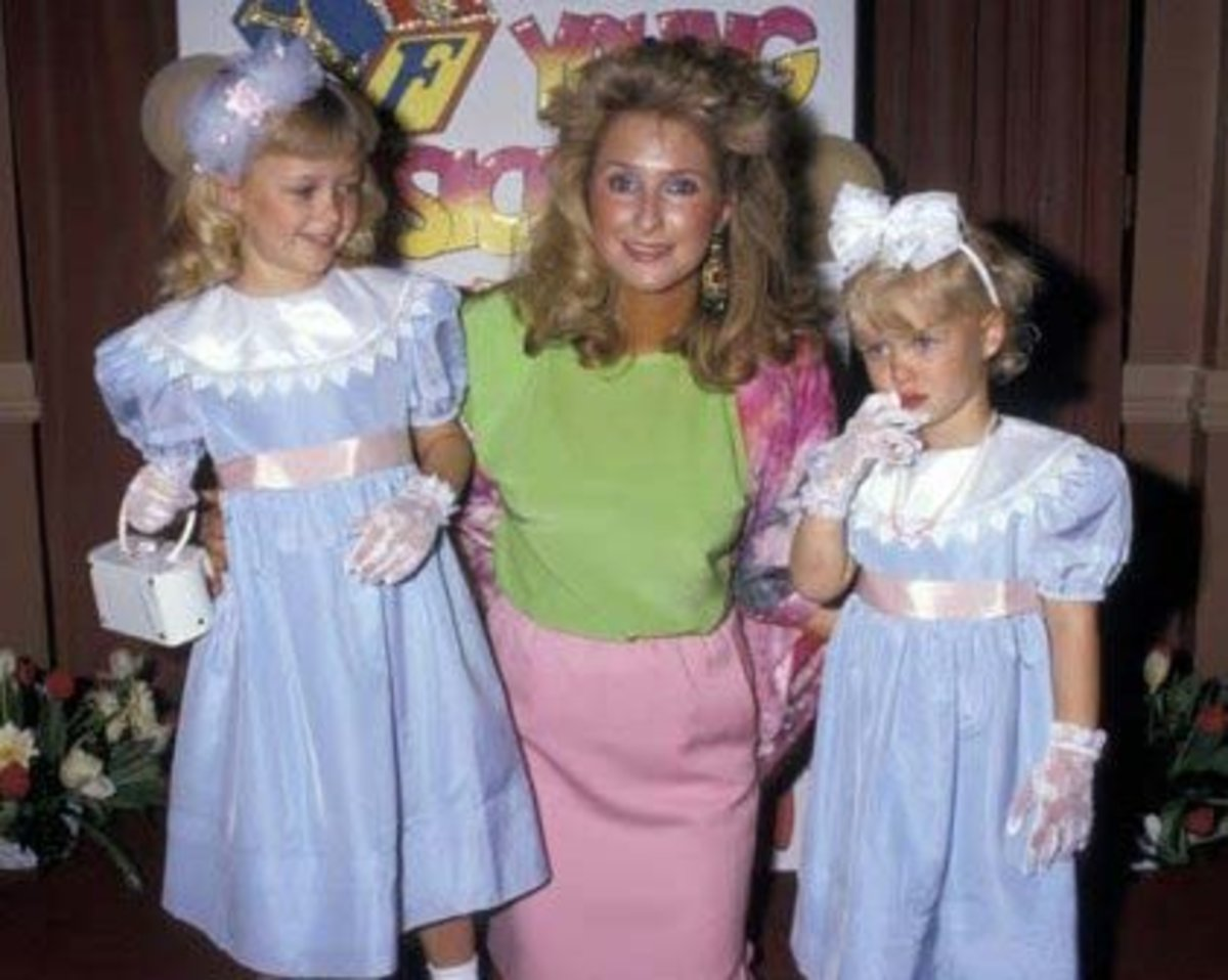 Paris Hilton when she was a child