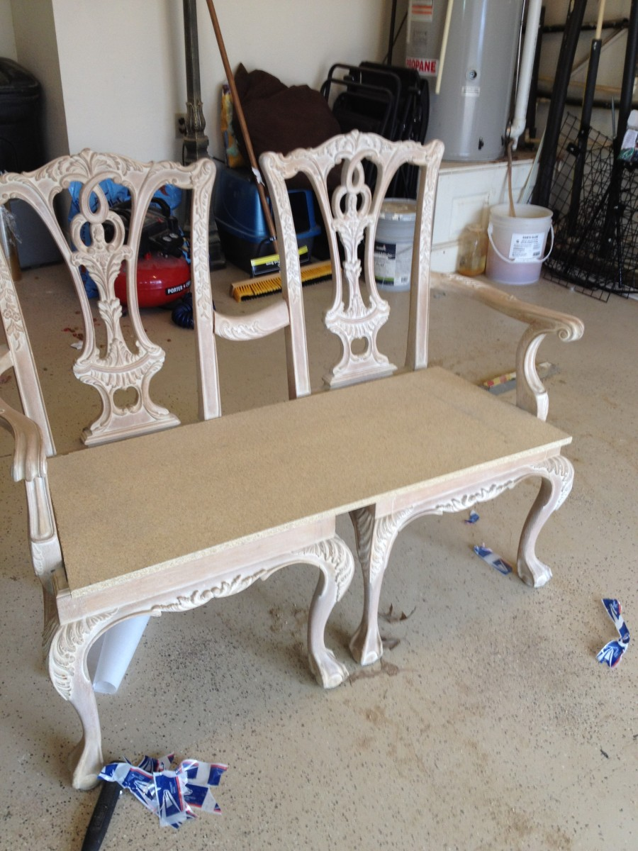 How To Make A Bench From Two Chippendale Chairs