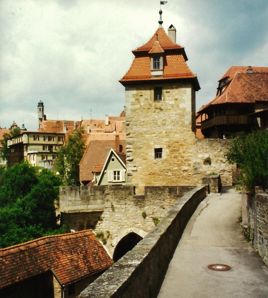 Portion of the city wall in Rothenburg