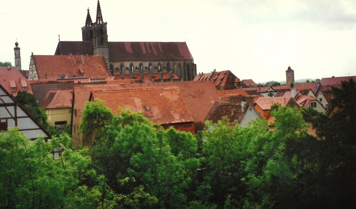 View from city wall in Rothenburg