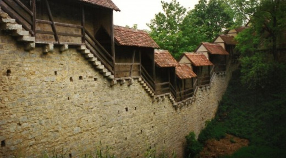 Defensive wall around Rothenburg, Germany