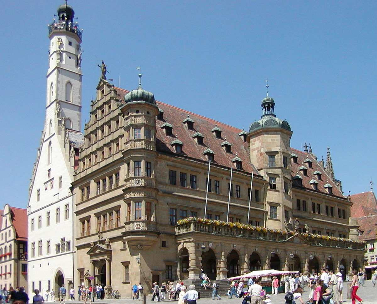 The Town Hall (Rathaus) in Rothenburg
