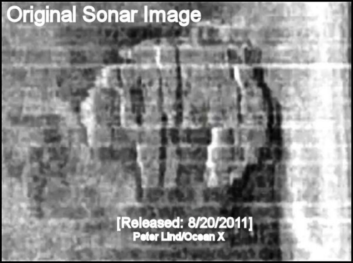 Officially Released Baltic Sea UFO Side-Sonar Image  *See composite component image citation