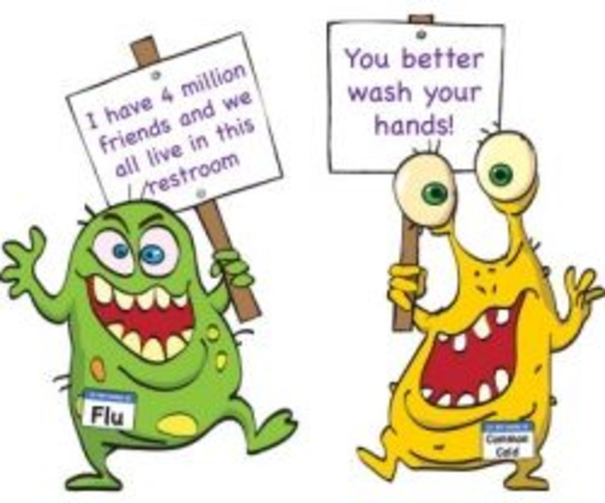 Hand Washing Poster Fun OUTFOX Prevention