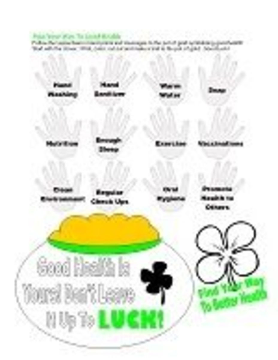 St. Patrick's Day Hygiene Lesson Supplemental Worksheet