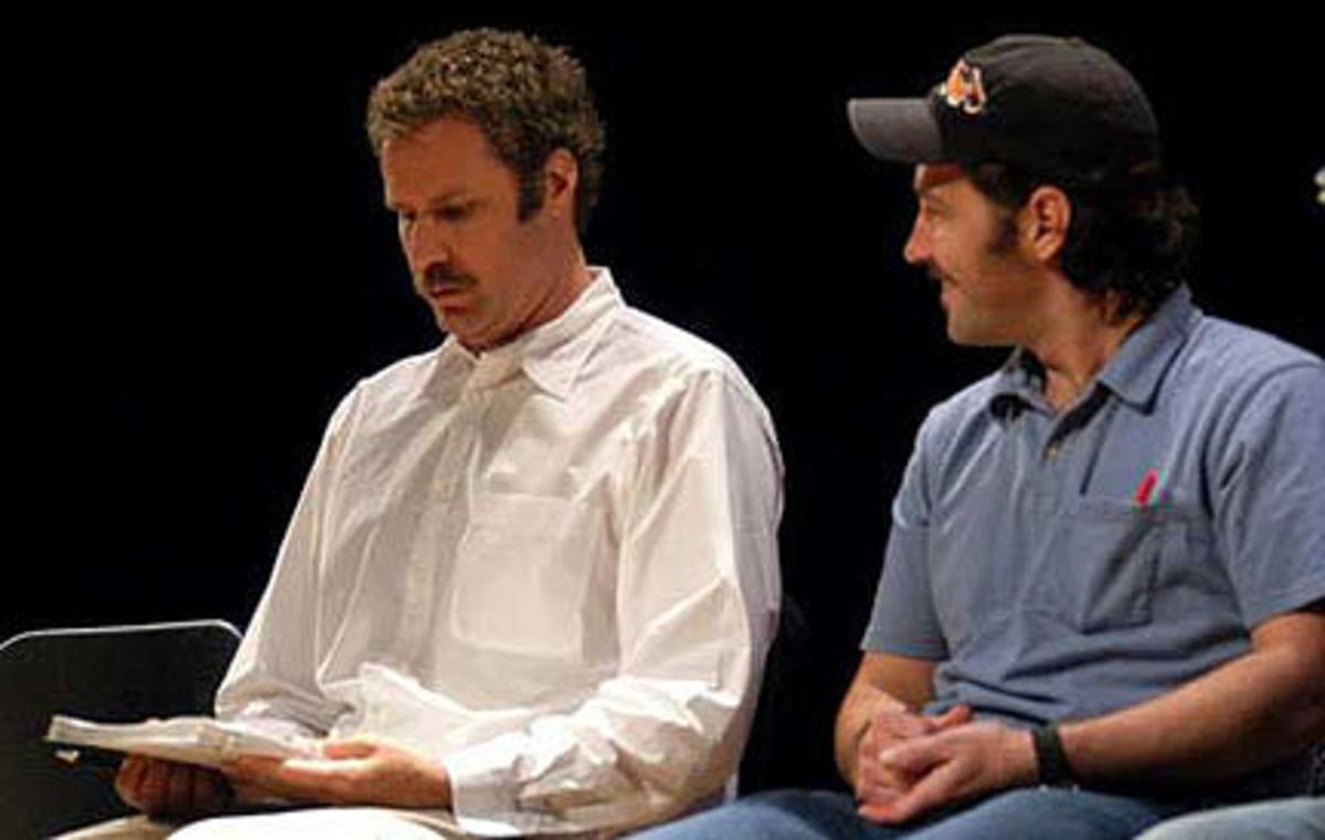 Will Ferrell and Paul Rudd at the Nantucket Film Festival script reading