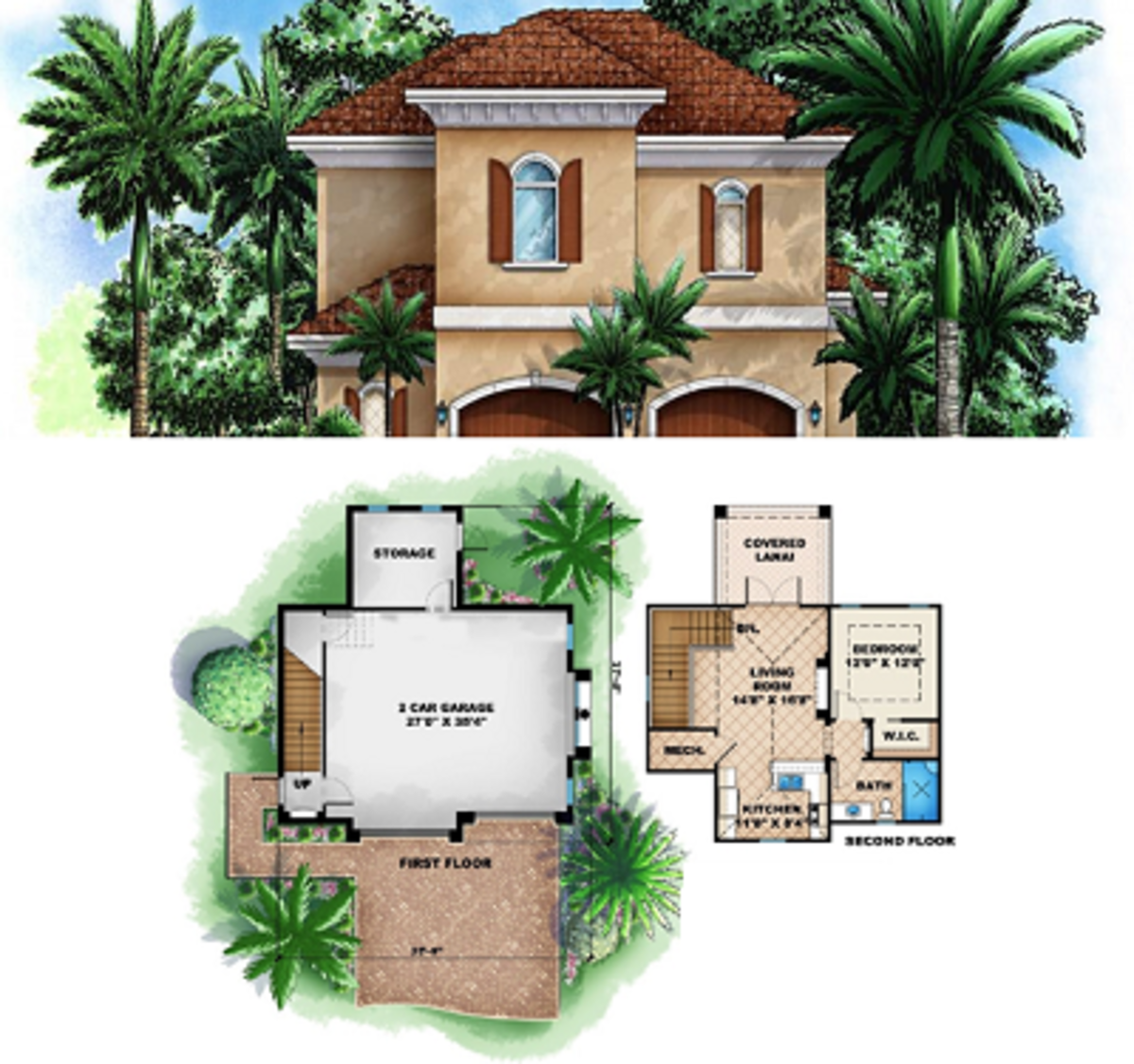 A compact traditional style home design that's a great size for down-sized living and a perfect design for a mother-in-law's home.