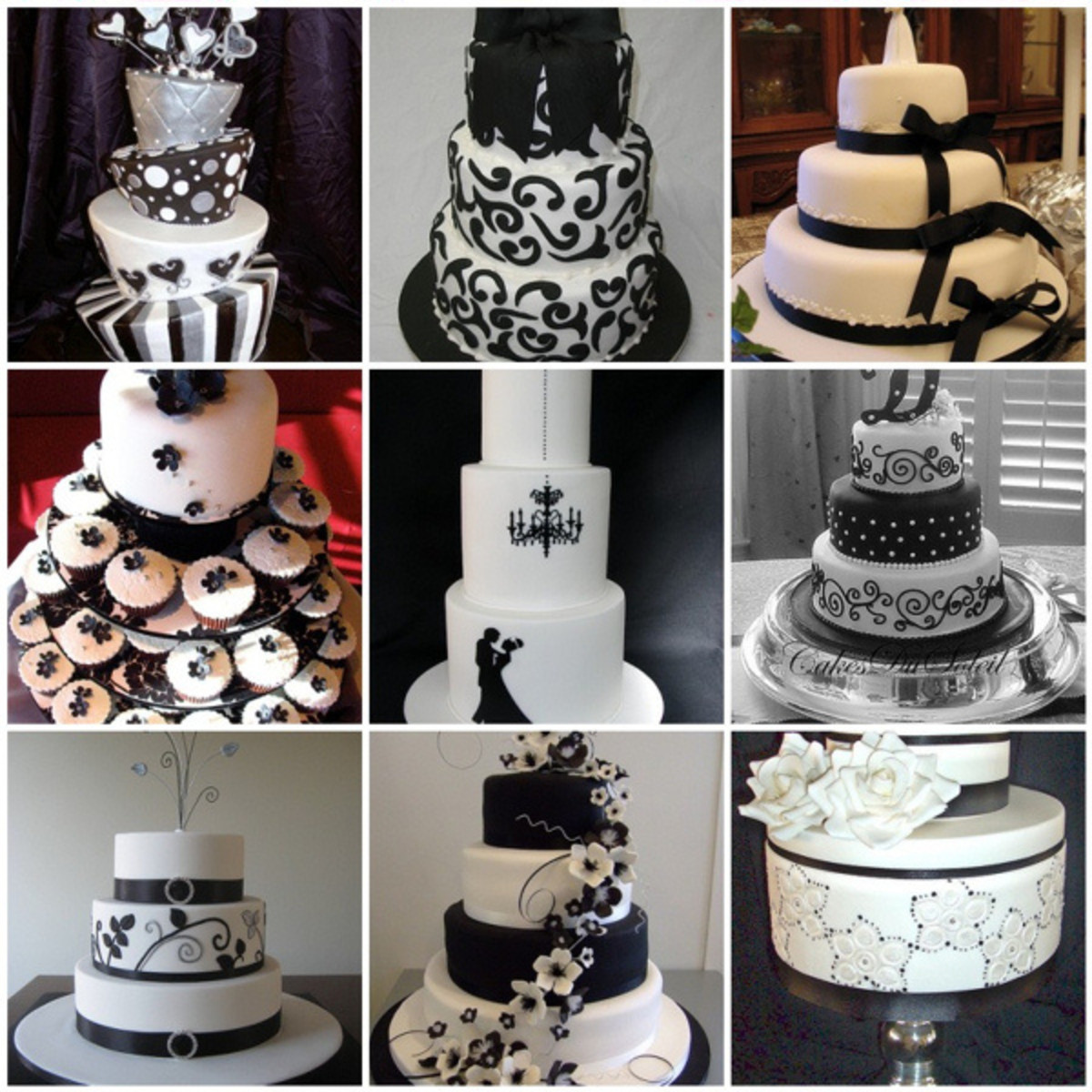 Again If You Want To Liven These Cakes Up A Bit Can Always Add Splash Of Single Accent Color Like Red Or Fuchsia For An Entirely Diffe Look