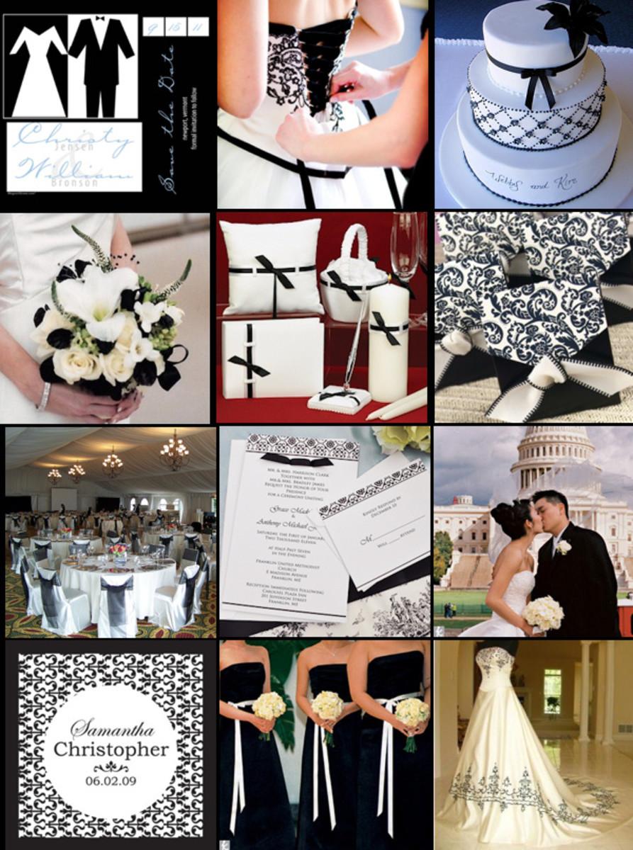 Black white wedding ideas hubpages black white wedding inspiration board junglespirit Images