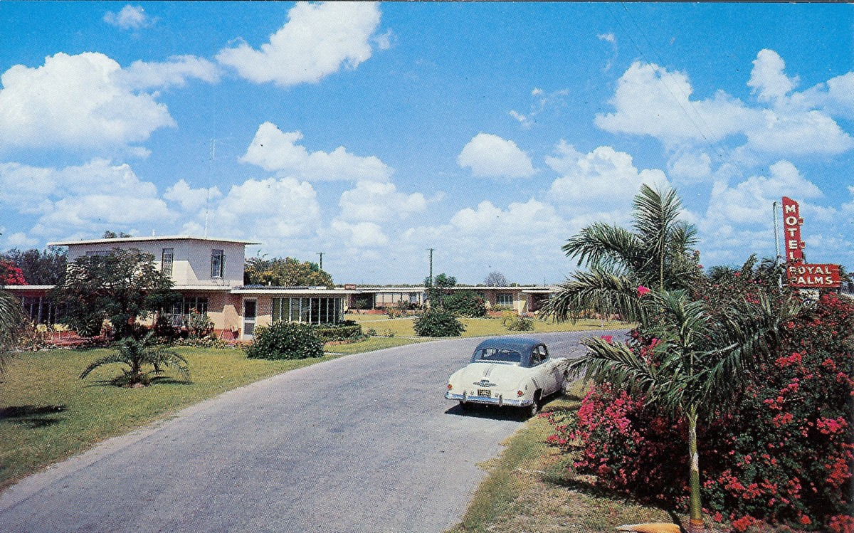 Vintage postcard from the Royal Palms Motel which was my grandparent's favorite winter lodging for many years.