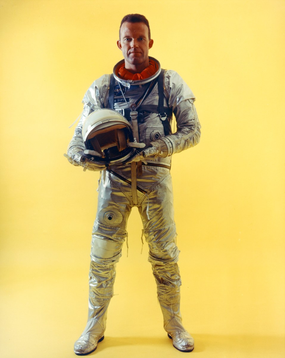 Gordon Cooper in Mercury Space Suit. Photo courtesy of NASA.