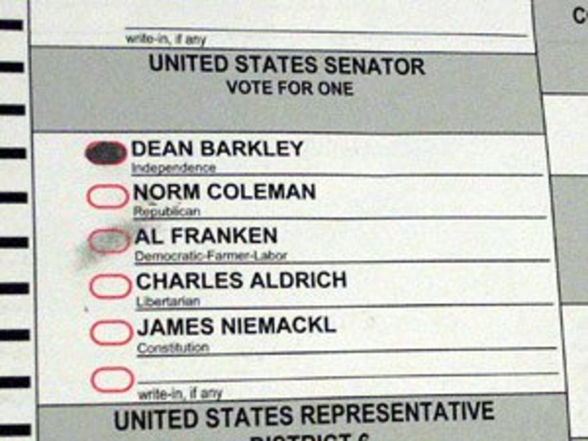 This was a vote for Al Franken.