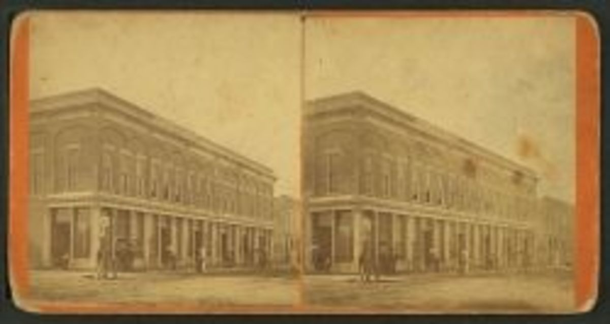 Stereoscope of Denver Bookstore, NYPL