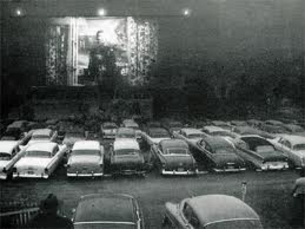 Drive-in movies were a mainstay of mid-century entertainment in the 1900s.