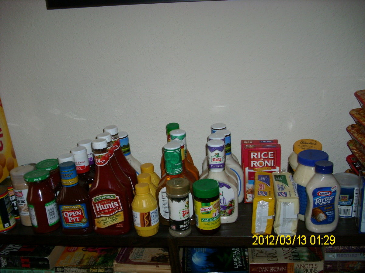 Condiments (stores will not be open)