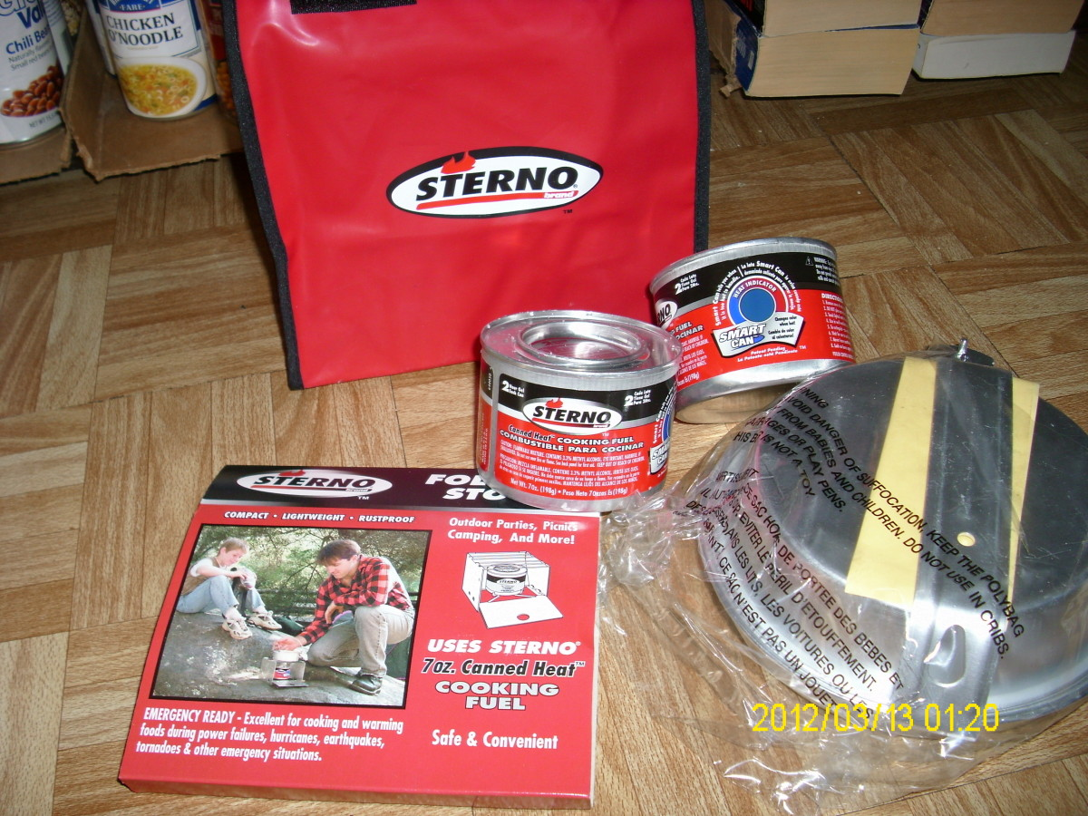 Sterno kit with stove, fuel and utensils