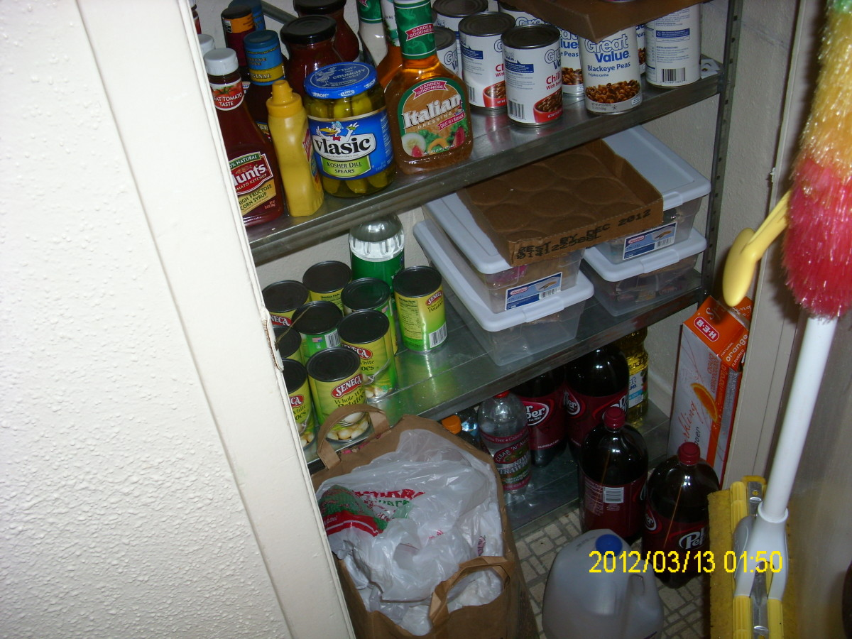More food stocked in kitchen pantry