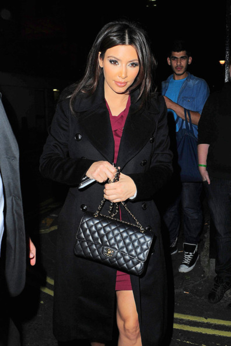 Chanel Medium Classic Flap Bag Celebrity Pics Caviar Beige