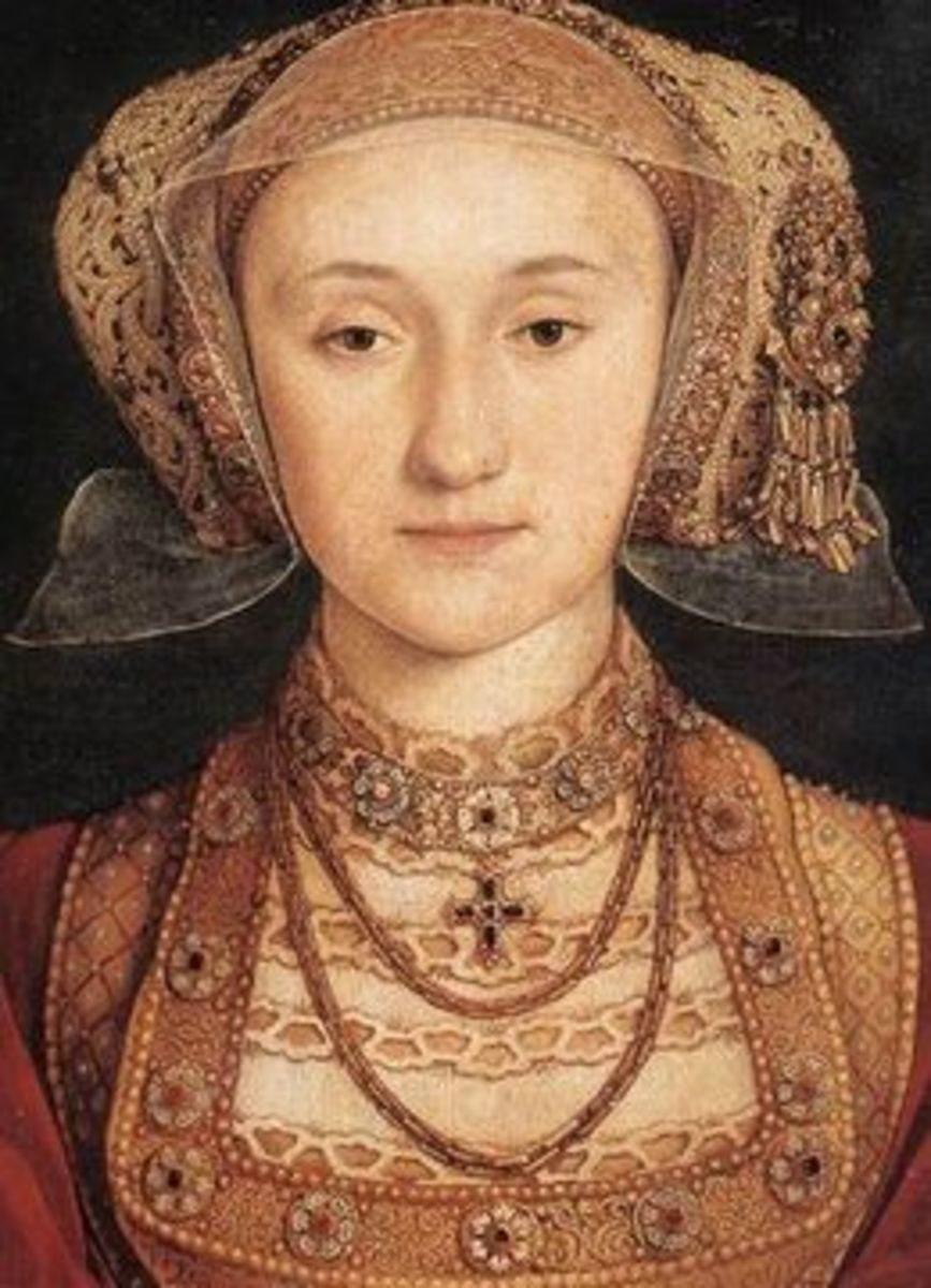 Anne of Cleves, portrait by Hans Holbein. Henry agreed to marry Anne on the basis of this portrait, which apparently flattered the lady somewhat.