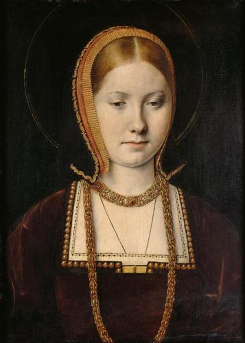 Young Catherine of Aragon, portrait by Michael Sittow, c. 1503