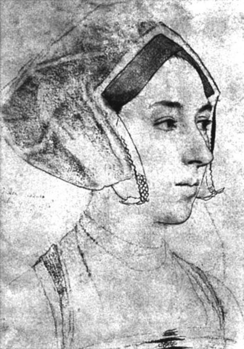 A sketch by Hans Holbein, believed to be Anne Boleyn