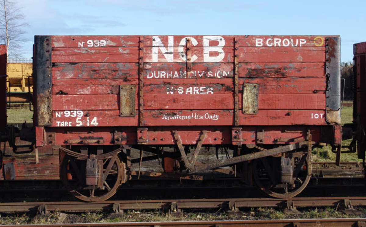 Ten ton capacity wagon in National Coal Board, Durham Division ownership, this is another former North Eastern Railway wagon.