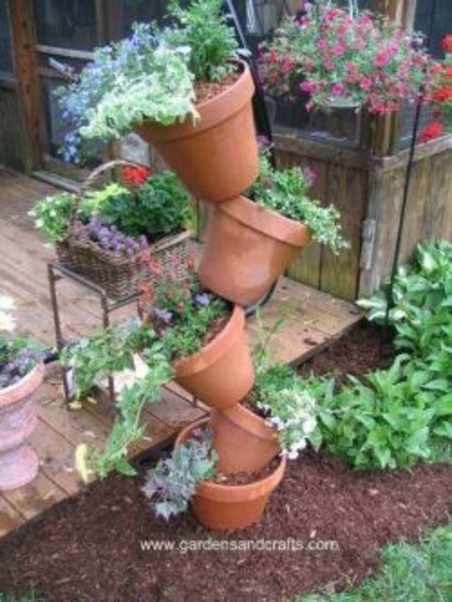 Tipsy Pot Planters