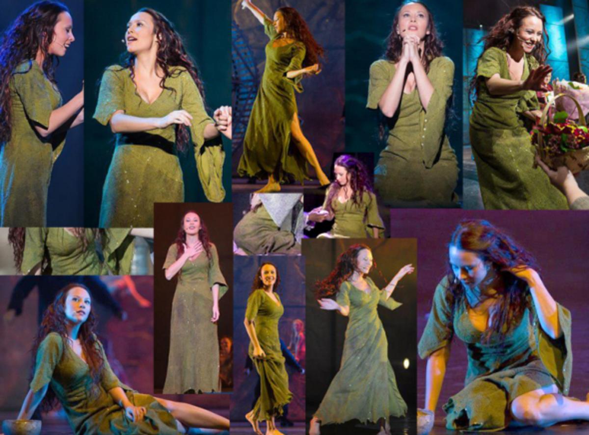 Alessandra Ferrari as Esmeralda from the World Tour Cast of Notre Dame de Paris