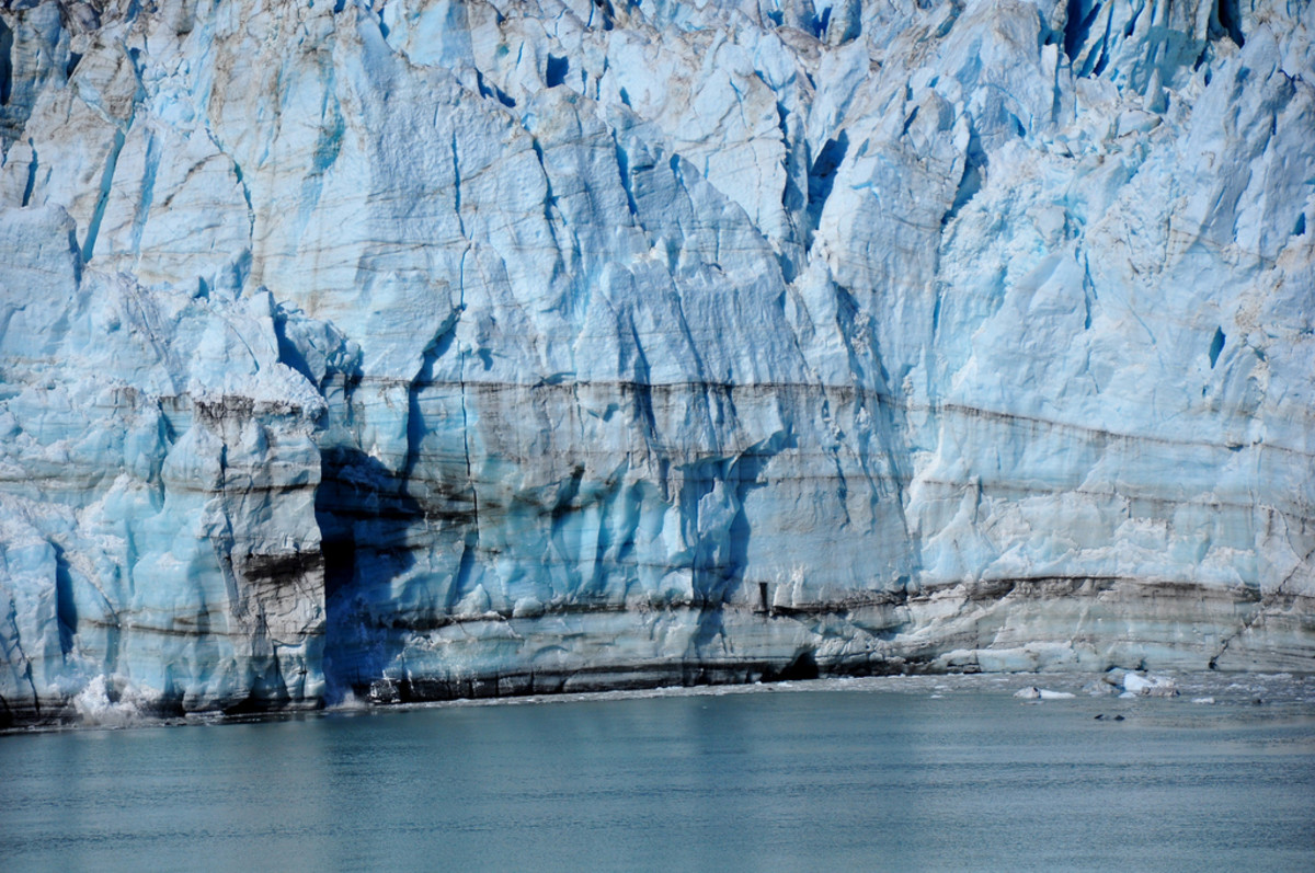 Margerie Glacier, a 21-mile long glacier, in Glacier Bay, Alaska.