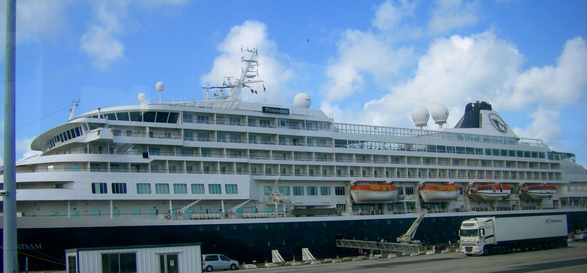 The Prinsendam, my home for two weeks, on the Holland America Line