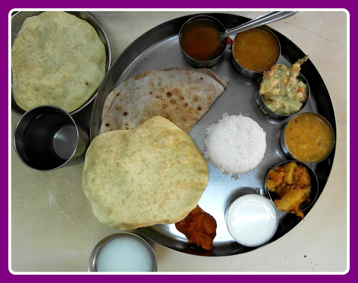 A south Indian Thali