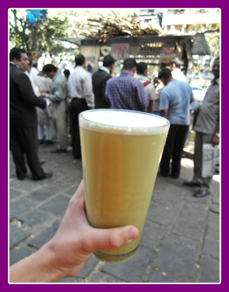 Sugarcane juice at a road-stall
