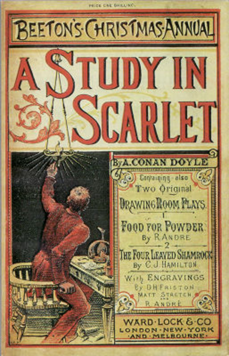 """Cover of the first publishing of """"A Study in Scarlet"""""""